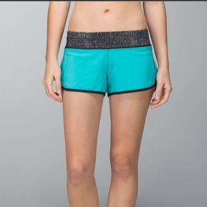 Lululemon teal / black 4 ways Speed shorts
